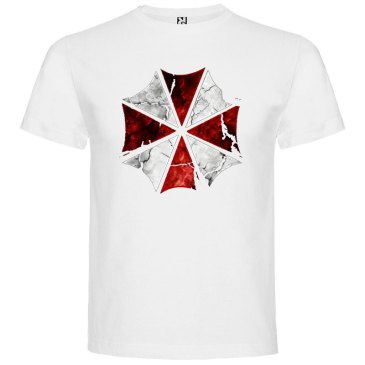 camiseta Umbrella Resident Evil en color Blanco
