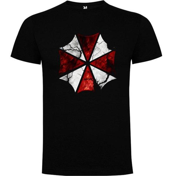 camiseta Umbrella Resident Evil en color negro