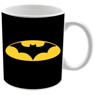 Taza cerámica fondo negro logo Bat man