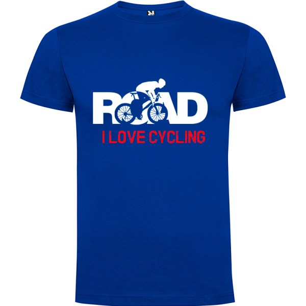 Camiseta para hombre MTB I Love Cycling Road en color Azul Royal