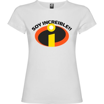 Camiseta para mujer Soy Increible en color Blanco