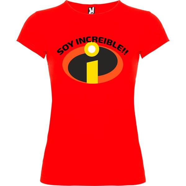 Camiseta para mujer Soy Increible en color Rojo