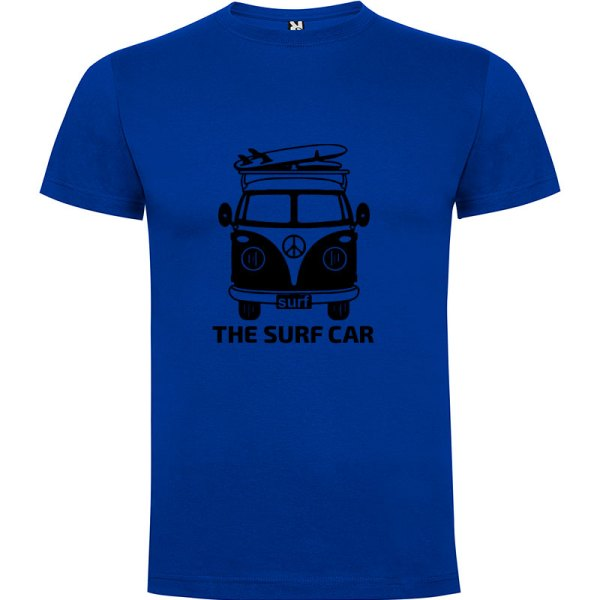 Camiseta The Surf Car para hombre Azul Royal