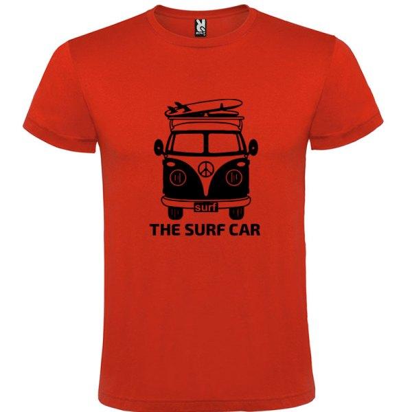 Camiseta The Surf Car para hombre Rojo