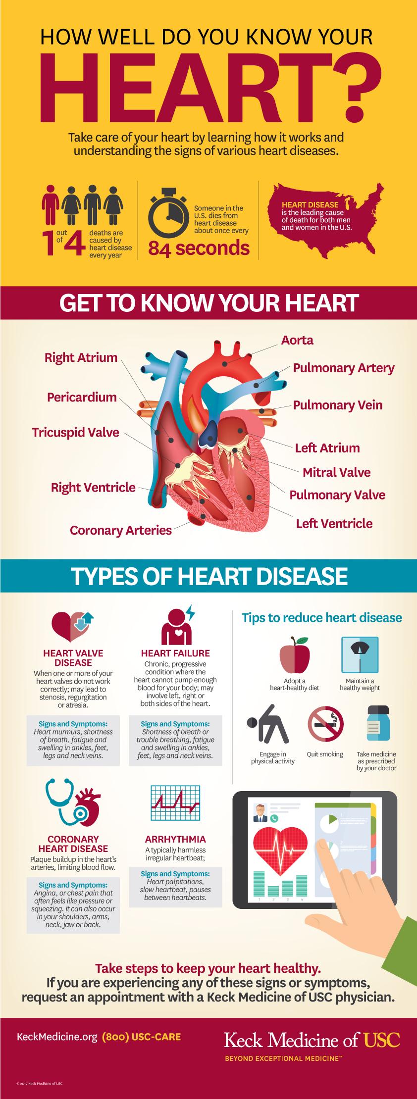 USC CVTI heart health infographic