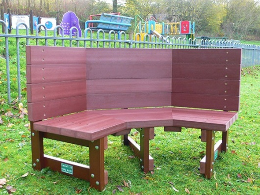 Recycled Plastic Multicoloured Children S Buddy Bench