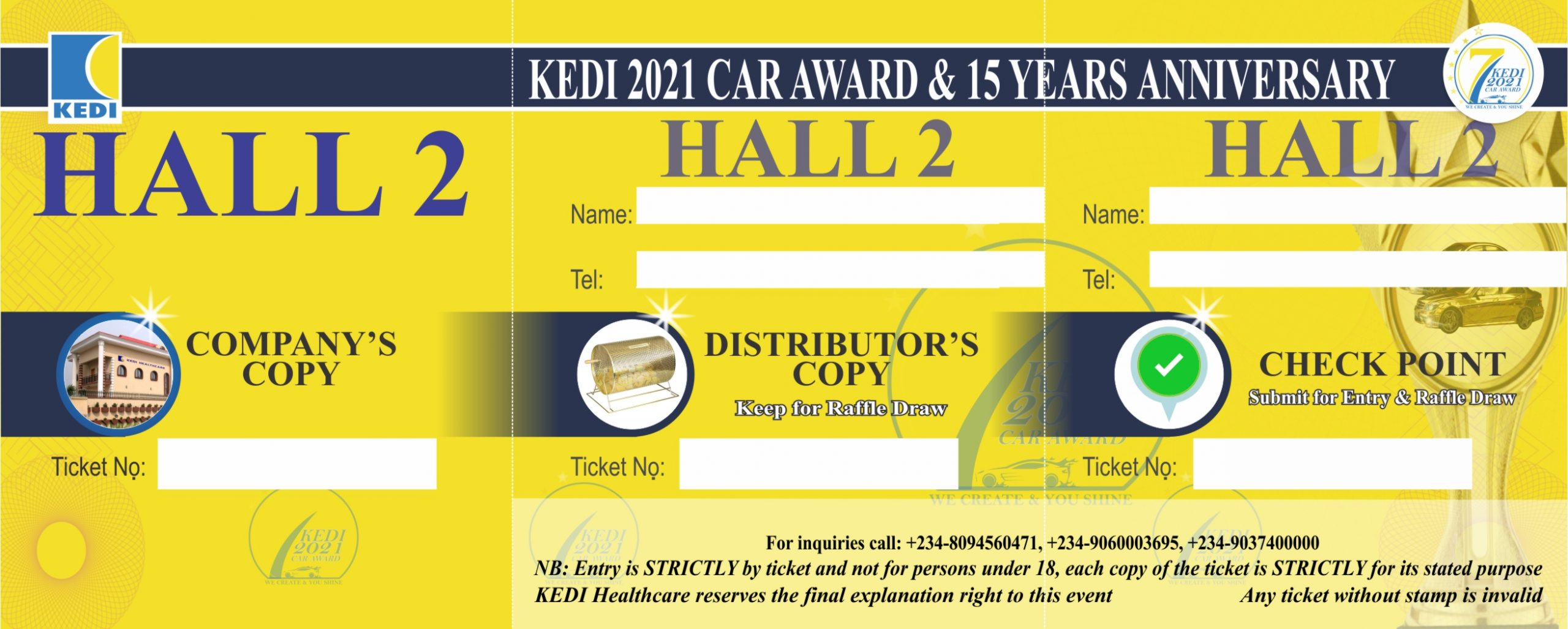 HALL  TWO TICKET