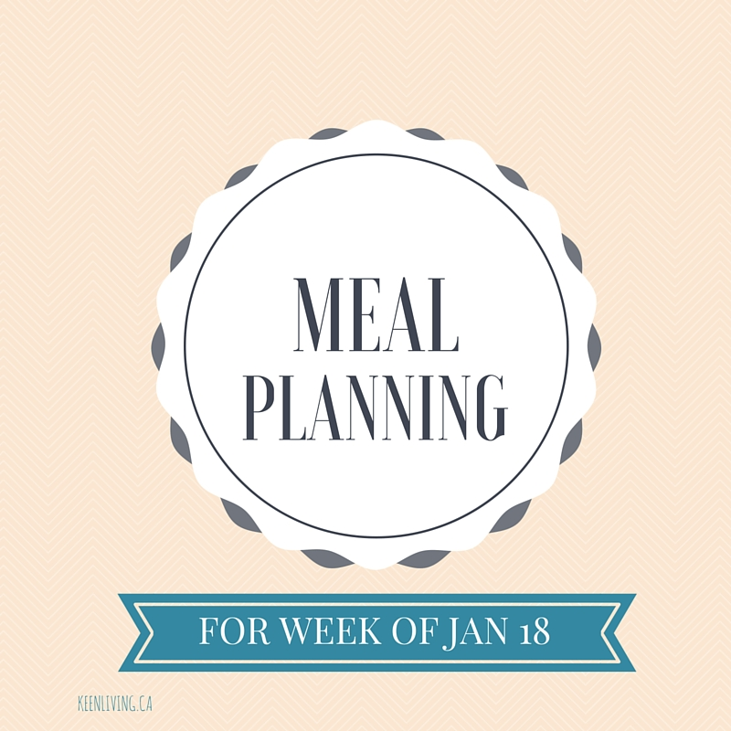 Meal Planning Jan 18
