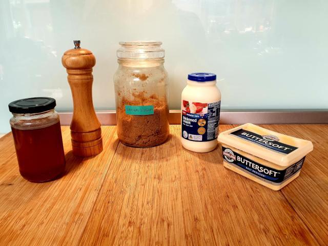 honey caramel ingredients