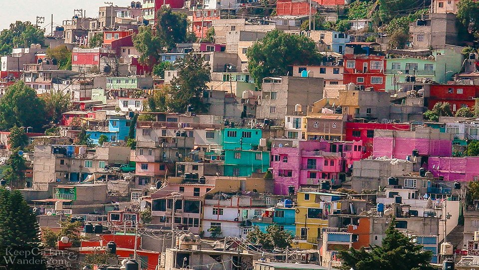 A MexiCable Ride Through Ecatepec and Its Colourful Houses on the Hills - Mexico City