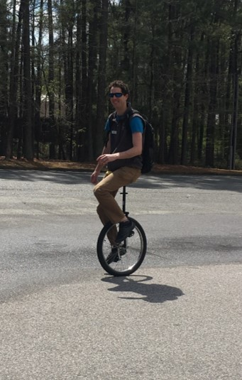 Steve on unicycle