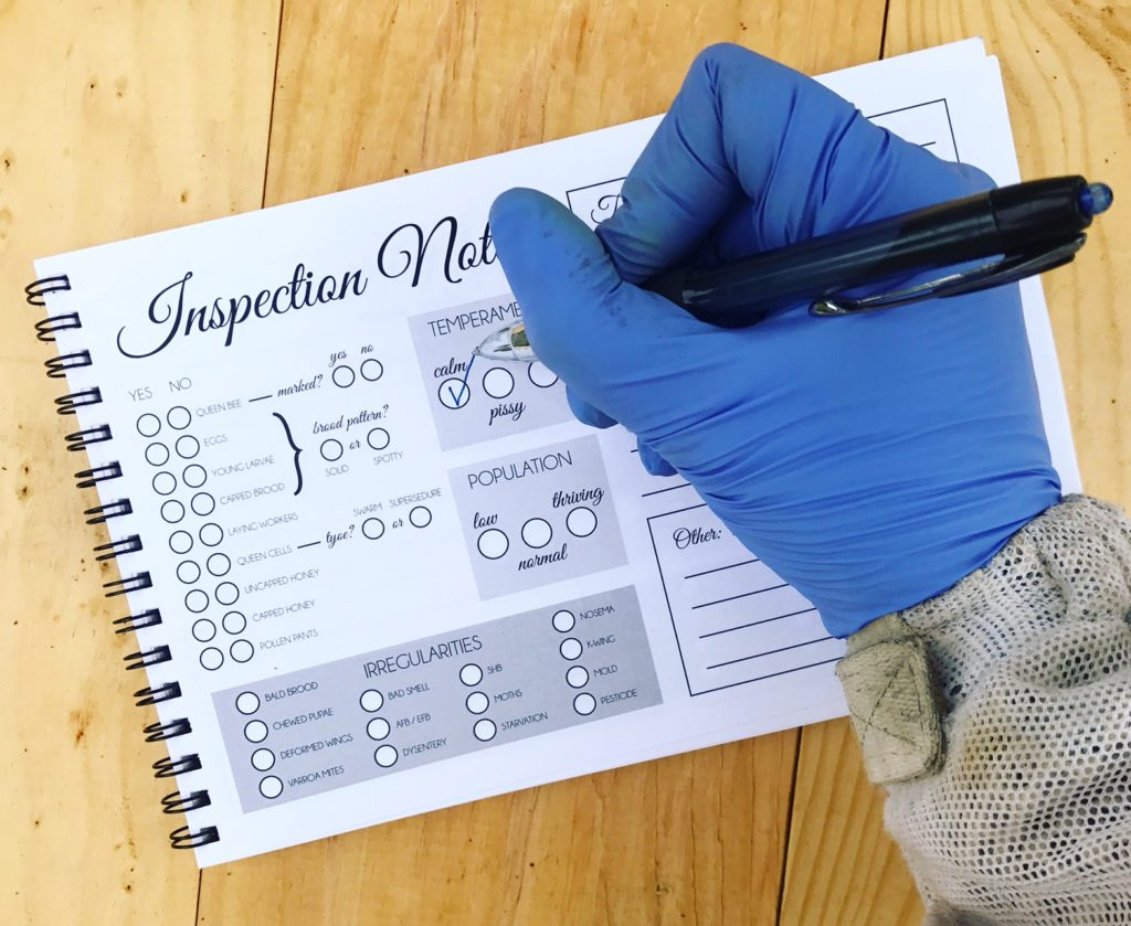 Hive Inspection Booklet