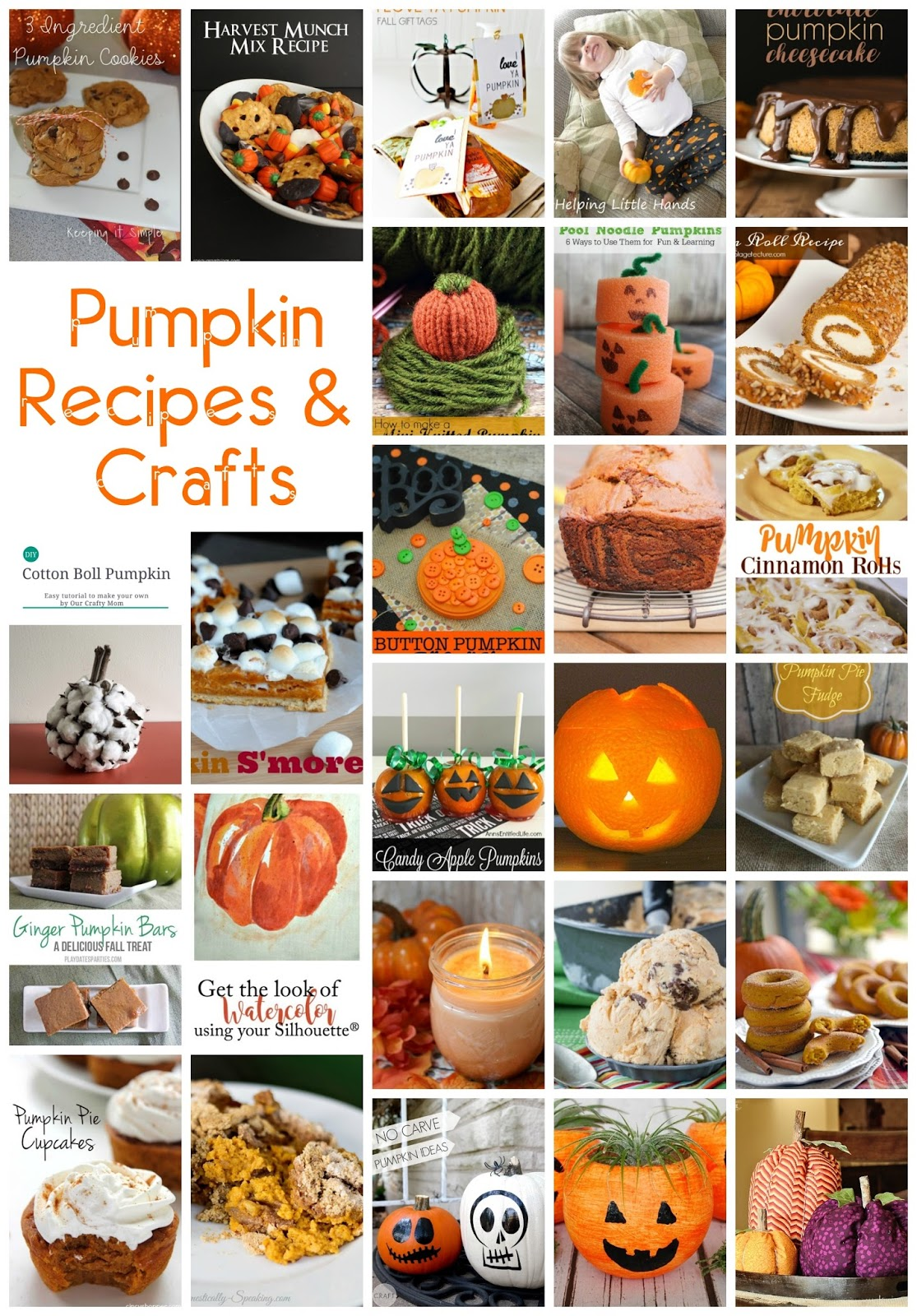30 Pumpkin Recipes And Crafts Mmm 349 Block Party