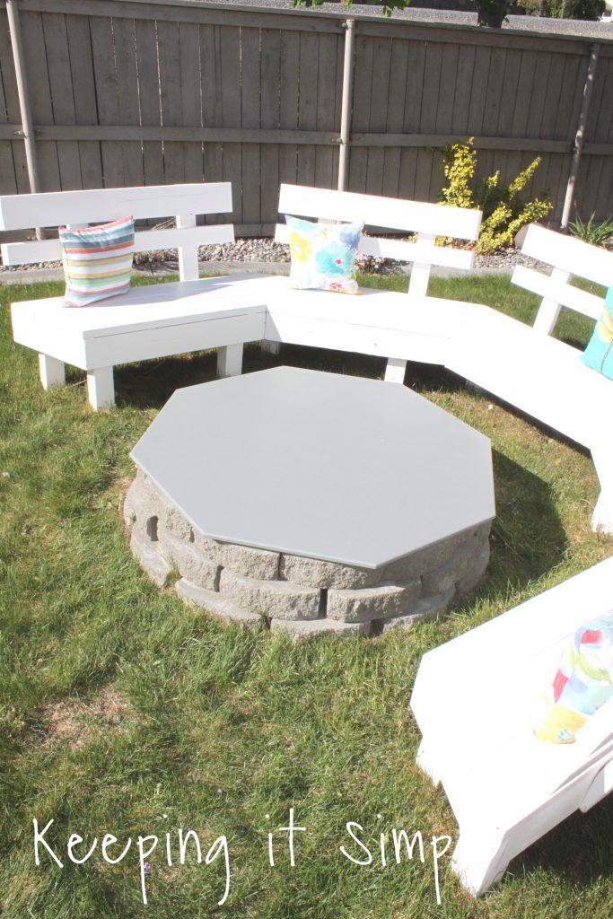 Backyard Ideas- DIY Fire Pit Cover • Keeping it Simple on Backyard Fire Pit Ideas Diy id=25113