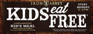 iron abbey kids eat free