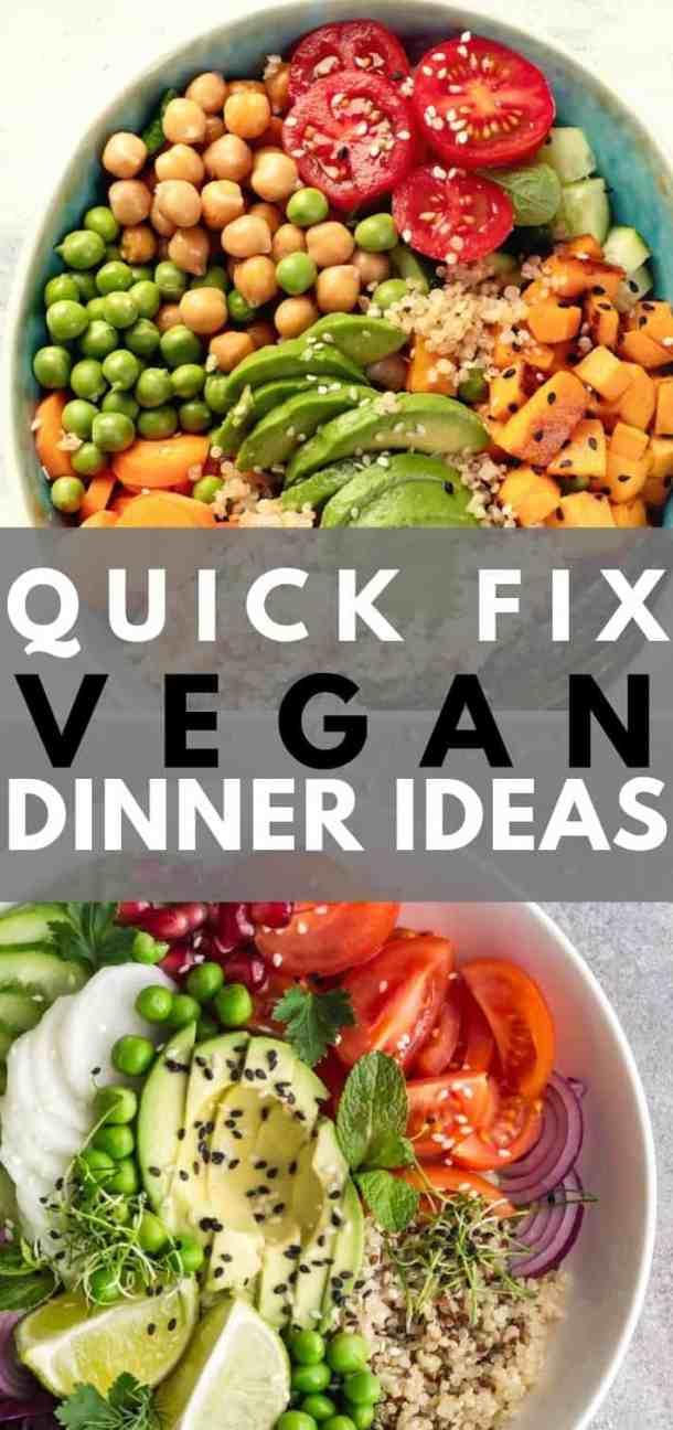 easy vegan dinners pin
