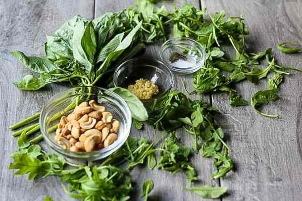 vegan pesto ingredients