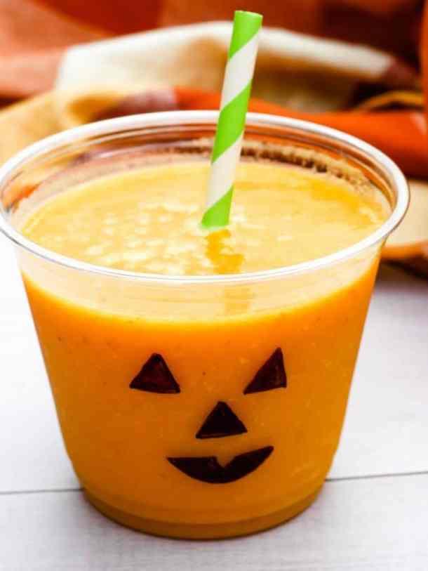 jack-o-lantern smoothie