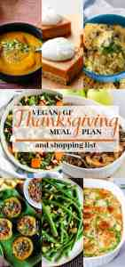 gluten free vegan thanksgiving meal plan