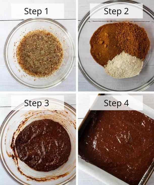 healthy vegan brownies recipe step