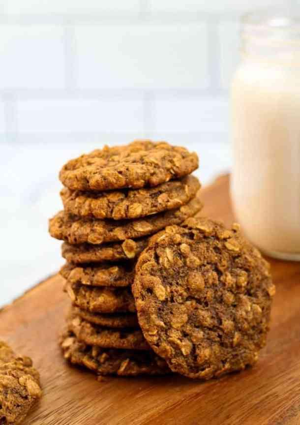 vegan oatmeal cookies with almond milk