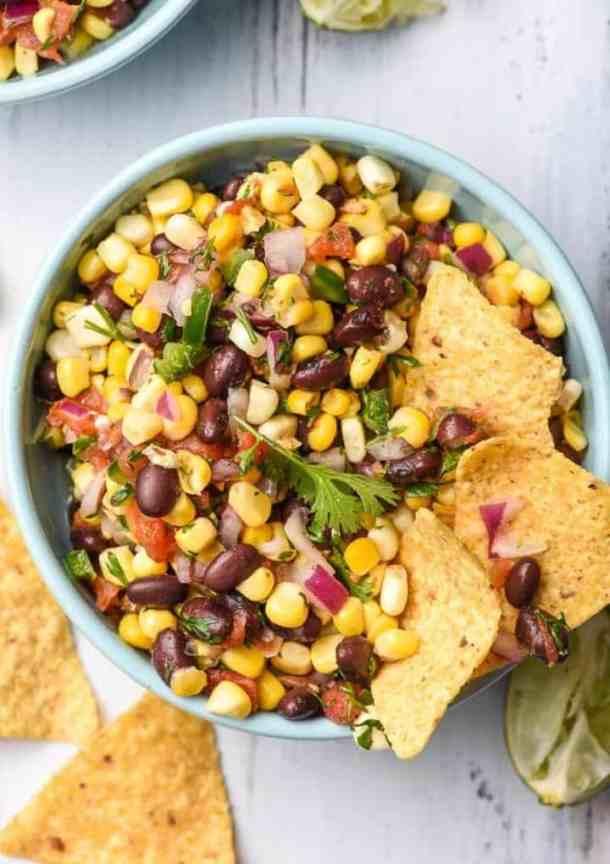 black bean corn salsa easy vegan recipes