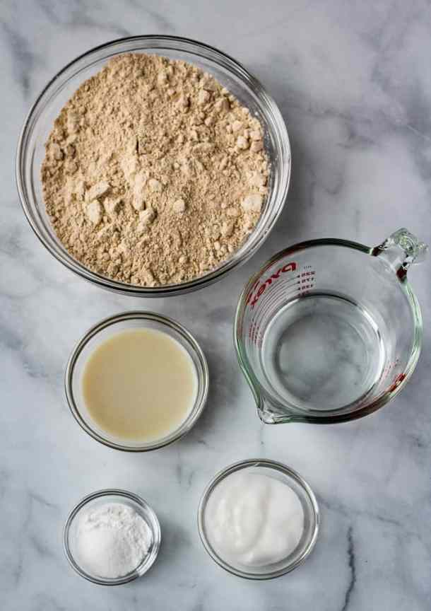 no yeast flatbread ingredients
