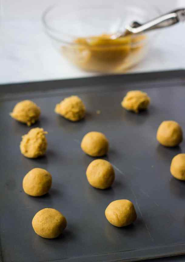 chickpea cookie dough rolled in balls