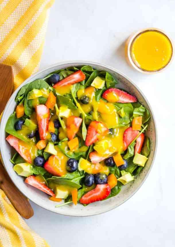 overhead of berry salad