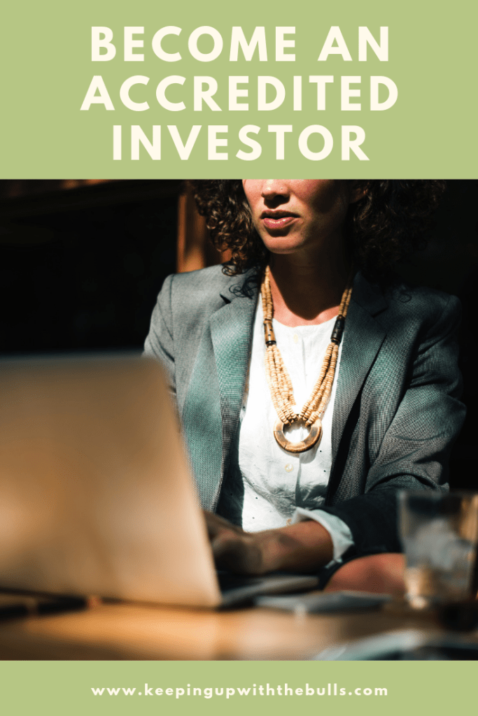 Become an accredited investor pinterest image