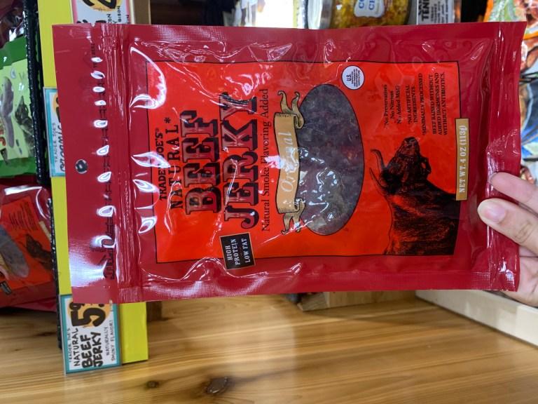 Best Trader Joe's snacks: Trader Joe's Natural Beef Jerky, Trader Joe's beef jerky
