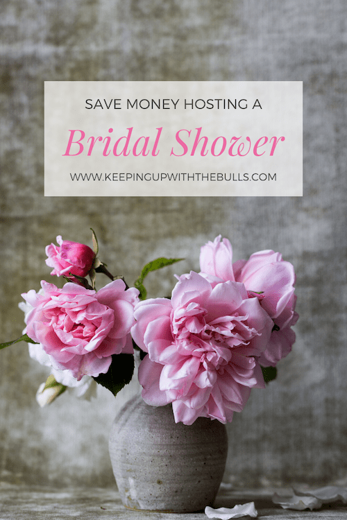 How to Plan a Bridal Shower on a Budget Pinterest Pin. Save money hosting a bridal shower. How much to spend on a bridal shower. inexpensive bridal shower