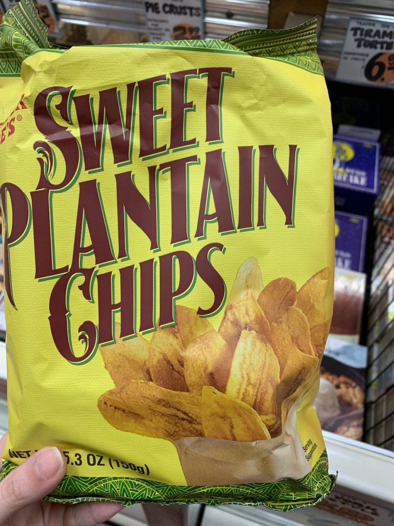 A great Trader Joe's snack: Trader Joe's Sweet Plantain Chips, Trader Joe's Plantain Chips