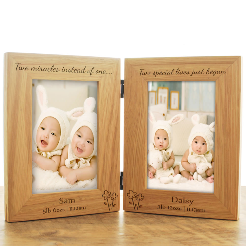 Twins Wooden Double Frame