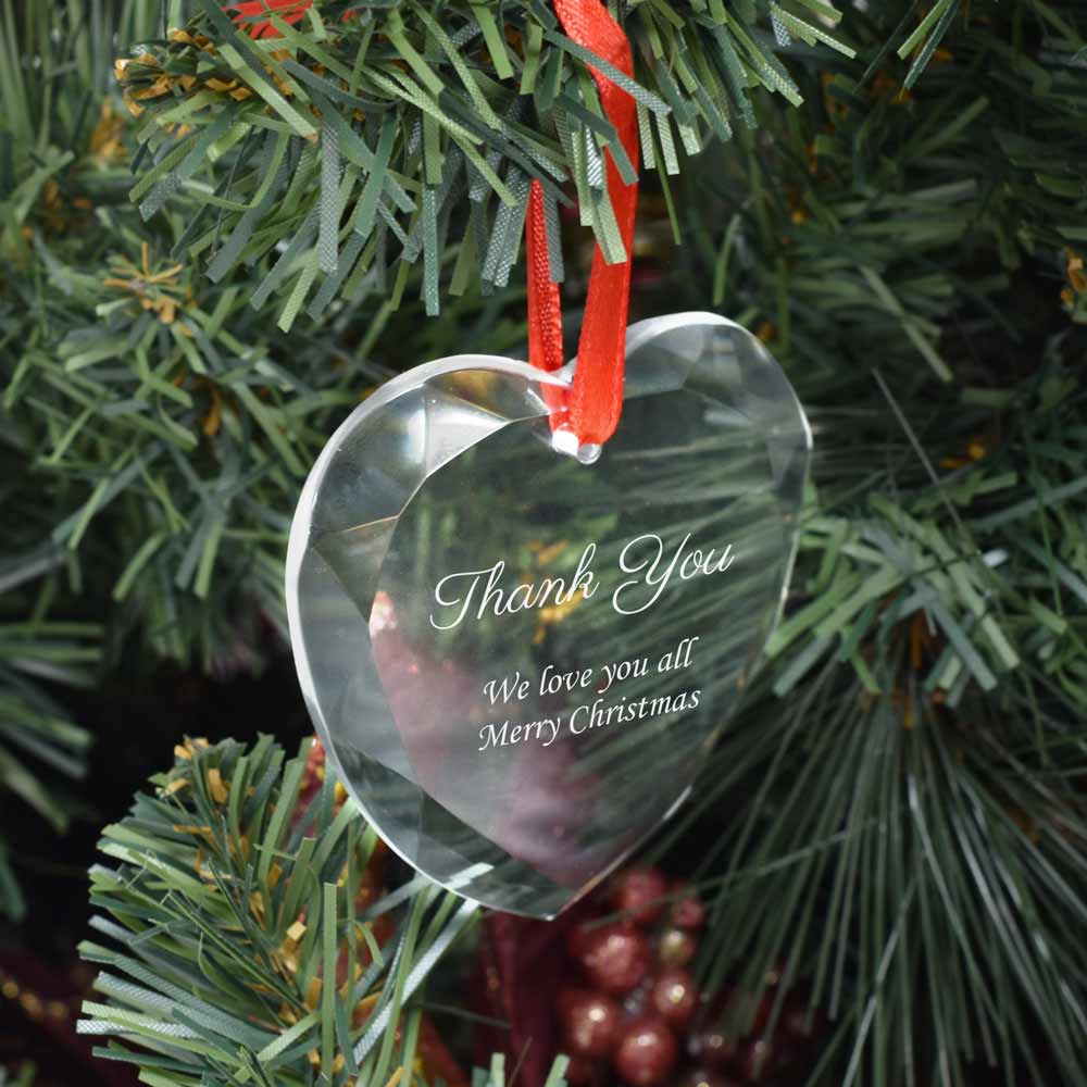Personalised Thank You Bauble Heart