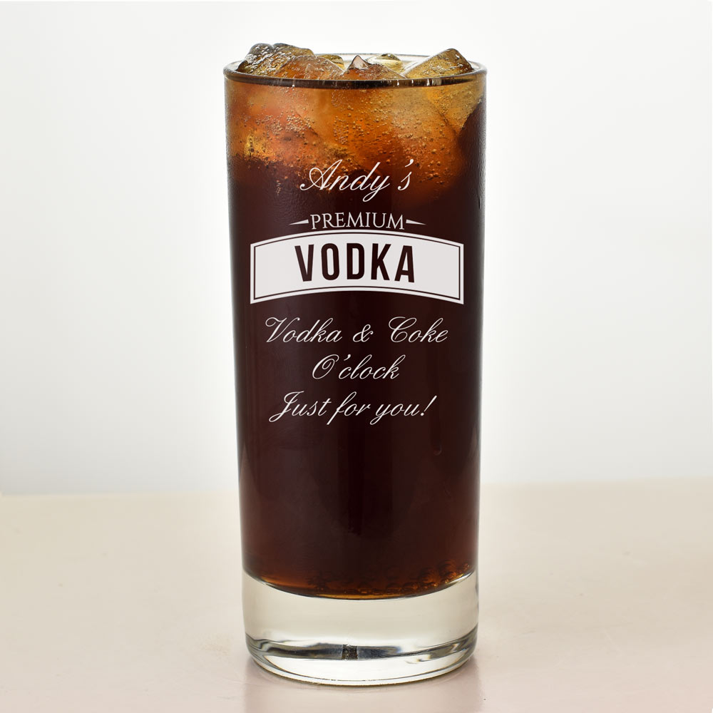 Personalised Glass For Vodka Lovers