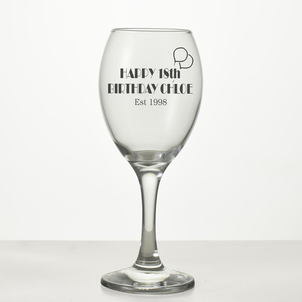 Birthday Wine Glass 18th Birthday Wine Glass 21st