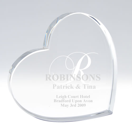 Glass Wedding Cake Toppers Personalised By Keep It Personal