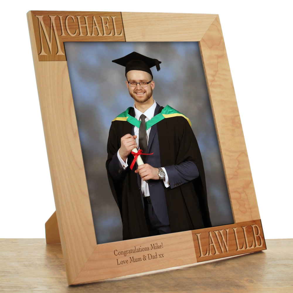 Graduate Gifts Personalised Wooden Photo Frame
