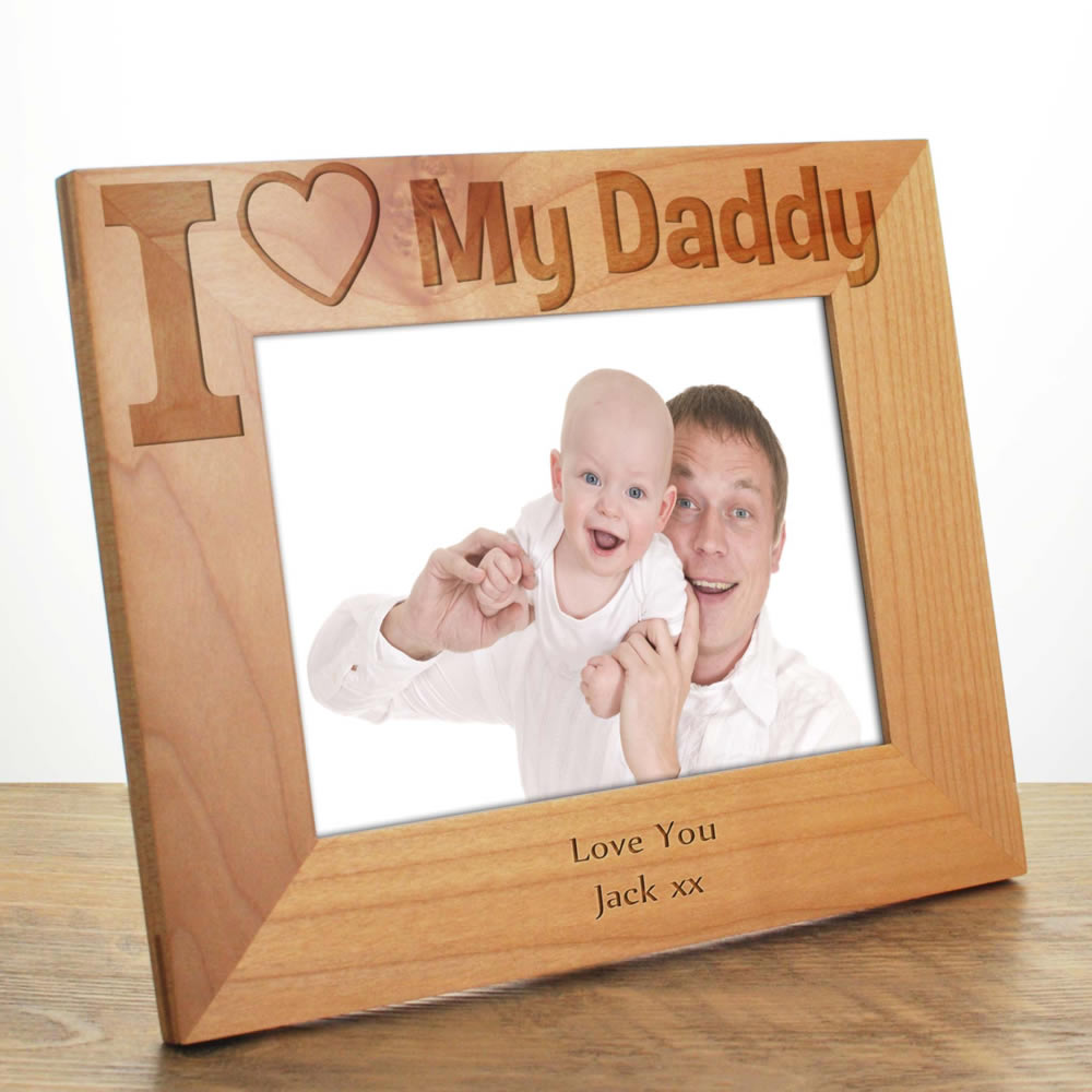 I Love My Daddy Photo Frame Fathers Day Gift For Dad
