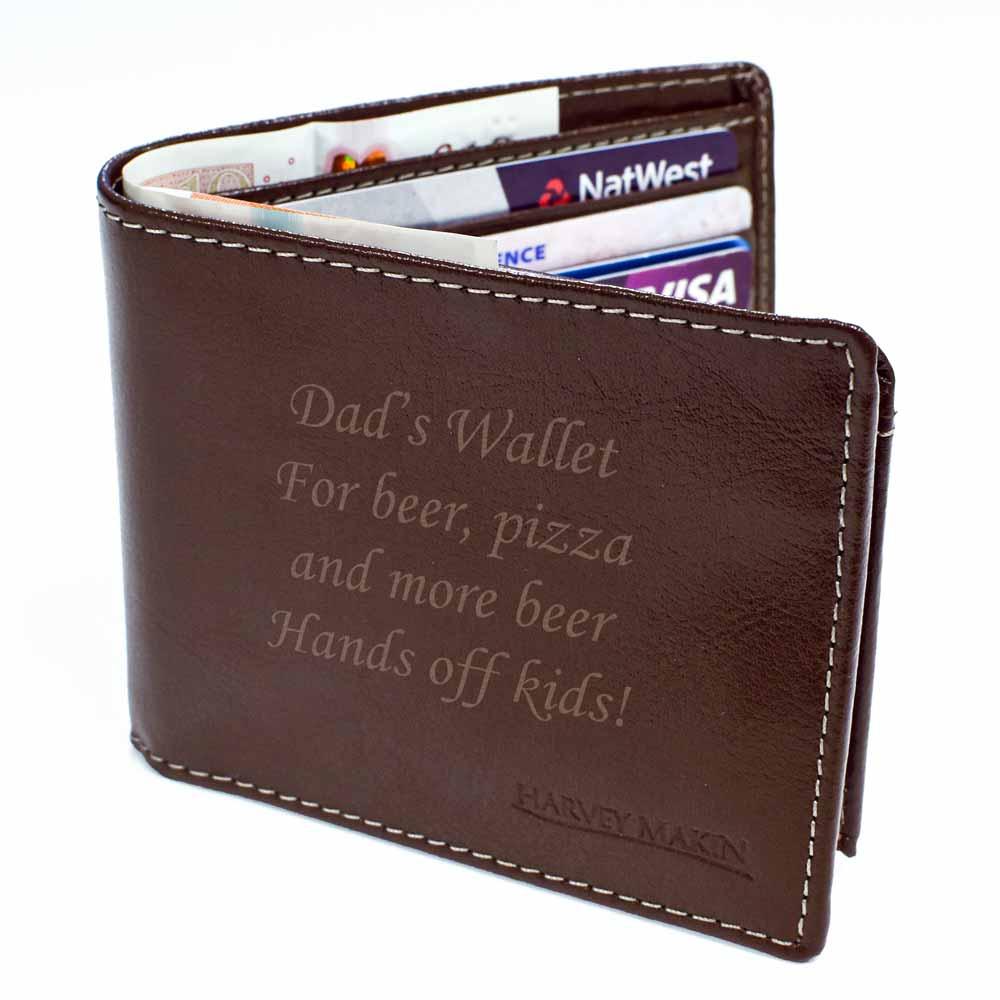 Personalised Wallet Mens Gift