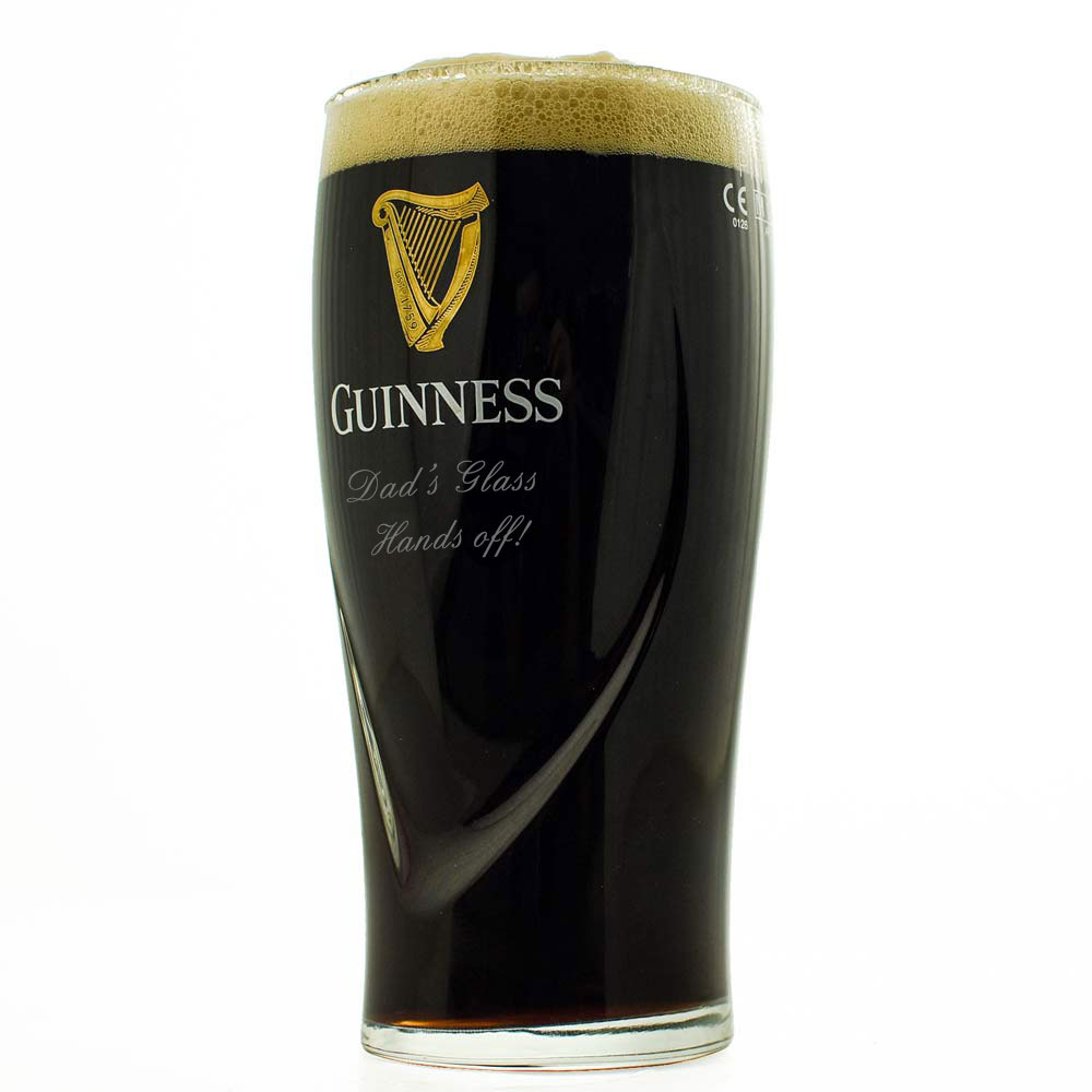 Personalised Guinness Glass Ideal Engraved St Patricks Day