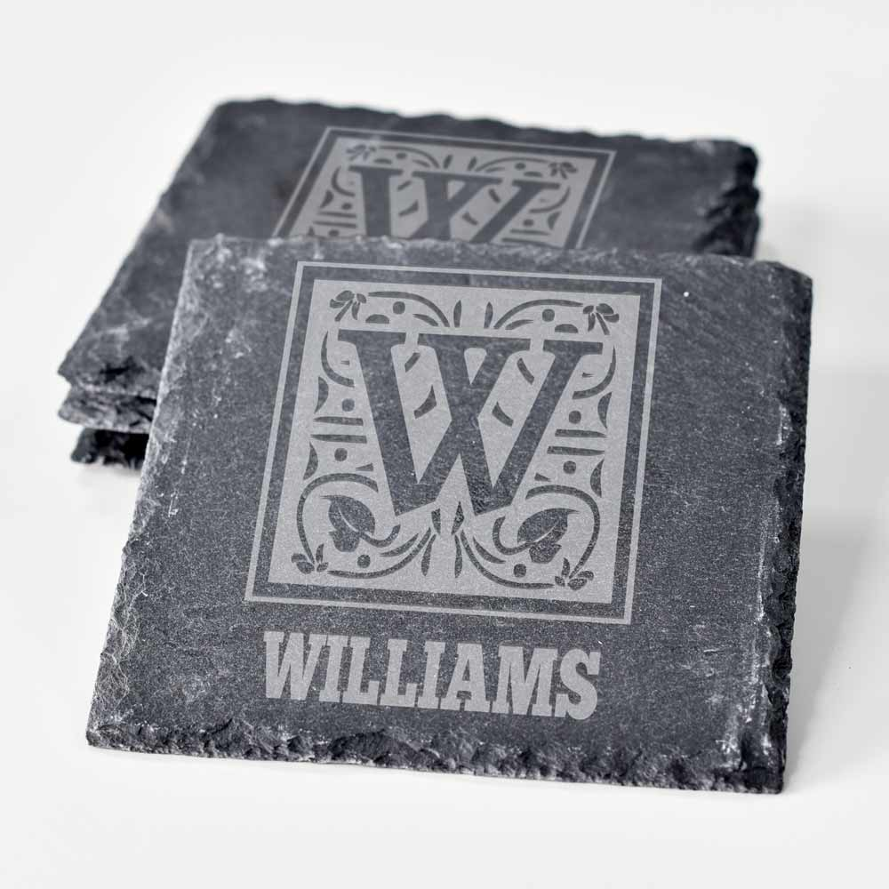 Personalised Slate Coasters Monogram