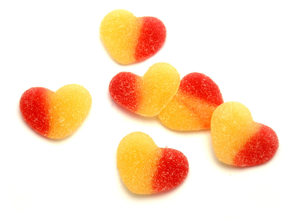 Peach Hearts Jelly Sweets Keep It Sweet