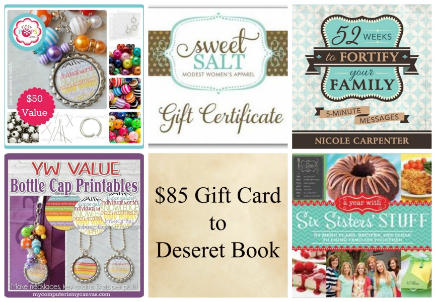 Spring General Conference Giveaway - Over $400 in Prizes!
