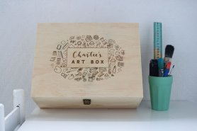 Personalised Wooden Art Box