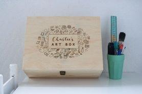 Personalised Wooden Art Box