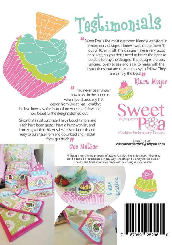 sweet pea embroidery # 65