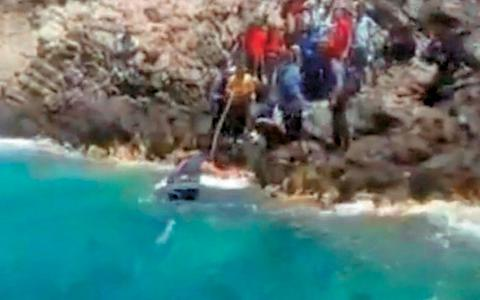 Tilos migrants rescue