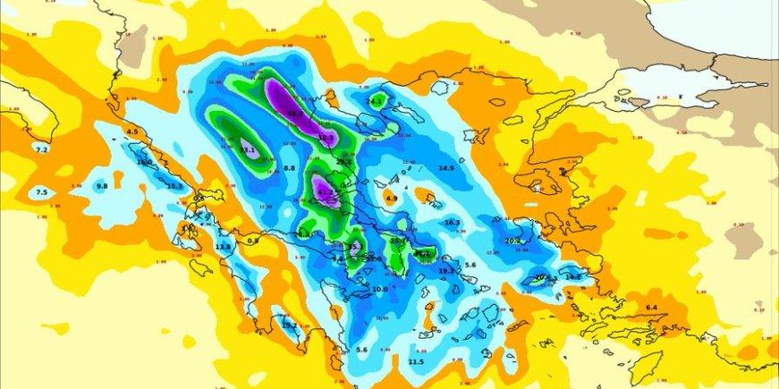 Greece Extreme Weather Warning Red Alert With Geryon Nov
